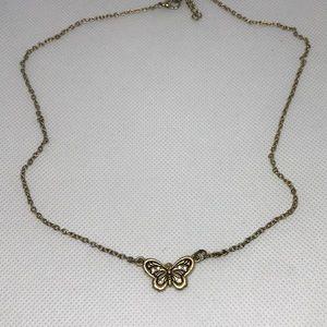 Butterfly goldtone necklace